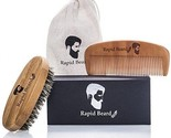 Beard & Mustache Wooden Comb & Natural Boar Bristle Brush Styling Gift set