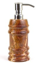 Luxury Imported Exotic Multi Onyx Liquid Soap/Lotion Dispenser Bengal Co... - $46.71