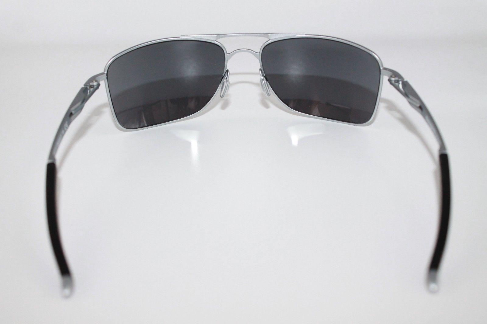 Oakley Gauge 8 Sunglasses OO4124-07 Matte Lead Frame W/ Black Iridium Lens