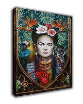 "Cartoon Art Oil Painting Print On Canvas Modern Home Decor""Woman Heartl""... - $17.30+"
