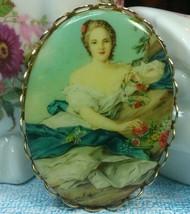 """Vintage Jewelry:1 6/8"""" Lady Brooch  170401 - $8.99"""