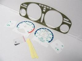 94-95 Honda Accord automatic Kevlar Bezel & Glow Through white Face Gauges - $34.64