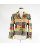Peach blue red geometric DONCASTER long sleeve blazer jacket 2 - $44.99