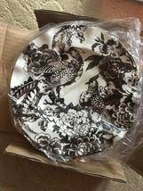 Williams Sonoma Set 4 Aerin Bird Salad Plates Brown Ivory Pheasant Damas... - $49.95