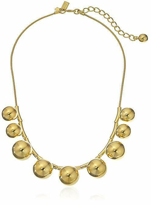 Kate Spade New York Ring It Up Gold-Tone Bubble Collar Necklace - Gold