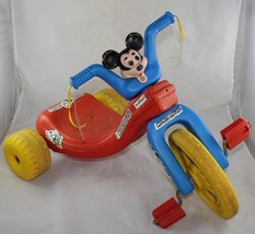 Vintage 1975 Walt Disney Production Mickey Mouse Cycle Big Wheel Tricycle Empire - $49.99
