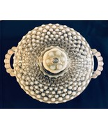 Anchor Hocking Hobnail Moonstone Opalescent Candy Dish w/ Lid and Handles  - $25.00