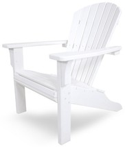 POLYWOOD SH22WH Seashell Adirondack Chair, White - $549.16