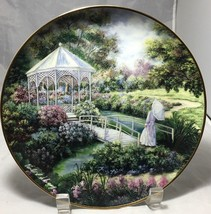"""Garden Gazebo"" Franklin Mint Heirloom 8"" porcelain Plate signed Ltd Ed - $9.85"