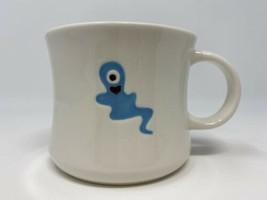 Starbucks 2006 Halloween Boo Mug White Turquoise One Eyed Ghost - $19.79