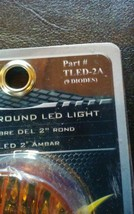 Trux Accessories Ribbed LED Marker Light- 2in Round 9 Diodes Amber TLED-2A image 2