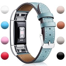 Hotodeal Fitbit Charge 2 Replacement Bands Classic Genuine Leather Wrist... - $19.59