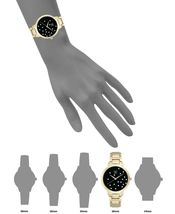 I.N.C. Women's Gold-Tone Bracelet Black w Pearl Accents Dial 36mm Quartz Watch image 5
