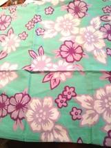 Pottery Barn Teen Standard Pillow Sham Beach House Floral 26x20 Pool Purple Aqua - $24.61