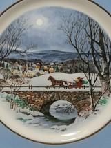 Avon 1979 Christmas Plate Series Dashing Through The Snow Enoch Wedgwood England image 2
