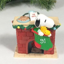 snoopy woodstock Christmas ornament light up fireplace cookies for Santa... - $20.04