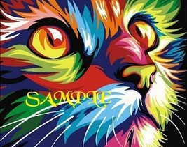Colourful Cat Head  Cross Stitch Chart - $10.00