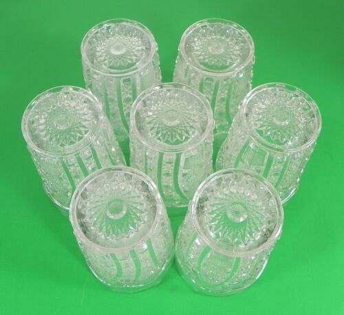Imperial Vintage Glass DAISY AND BUTTON Water Pitcher Set with 7 Tumbler (s) image 9