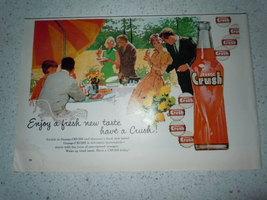 Vintage Orange Crush New Taste Print Magazine A... - $5.99