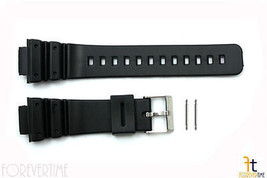 16mm Fits CASIO DW-6900 G-Shock Black PVC Watch BAND Strap DW-6600 w/ 2 ... - $10.75