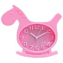 Nostalgia Noiseless Alarm Clock Kids' Birthday Gift Student Clock Pink - $14.83
