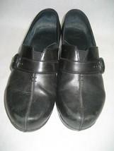 Women's Dansko Black Leather Shoe Tamara Size 38 - $28.01