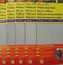 "3M 9112NA 3-2/3"" x 7-1/2"" 120 Grit Finishing Sander Sheets 25 Sheets ( 5... - $7.43"