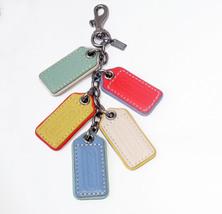 Coach Legacy Multi Lozenge Hangtag Purse Charm 62736 Pastels NWOT - $58.00