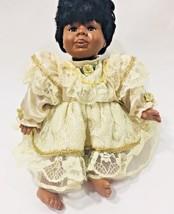 Vintage African American Porcelain Doll - $22.17