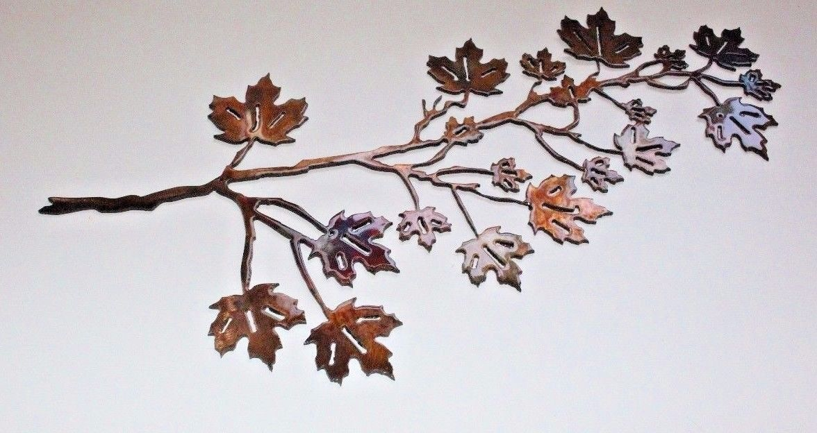 Maple Leaf Branch Metal Wall Art Decor 36 X And 14 Similar