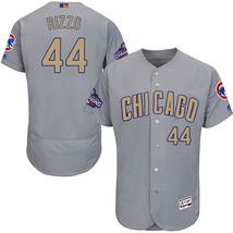 44 Anthony Rizzo Men's Chicago Cubs Champions Gold Program Jerseys Grey - $40.00