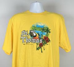 Princess Cruise St Thomas T Shirt Mens XL Yellow Macaw Parrot Hibiscus P... - $21.73