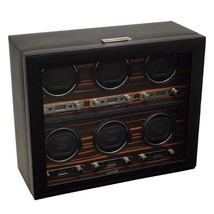 WOLF Roadster 2.7 6 Piece Watch Winder with Cover for Six Automatic Watc... - $1,499.00