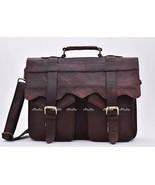 """15"""" Men's Real Goat Leather messenger bag laptop computer case shoulder bag - $62.49"""