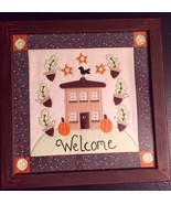 Miss Elle's Collection Framed Doily Quilted Country Art Welcome Acorn House - $39.99
