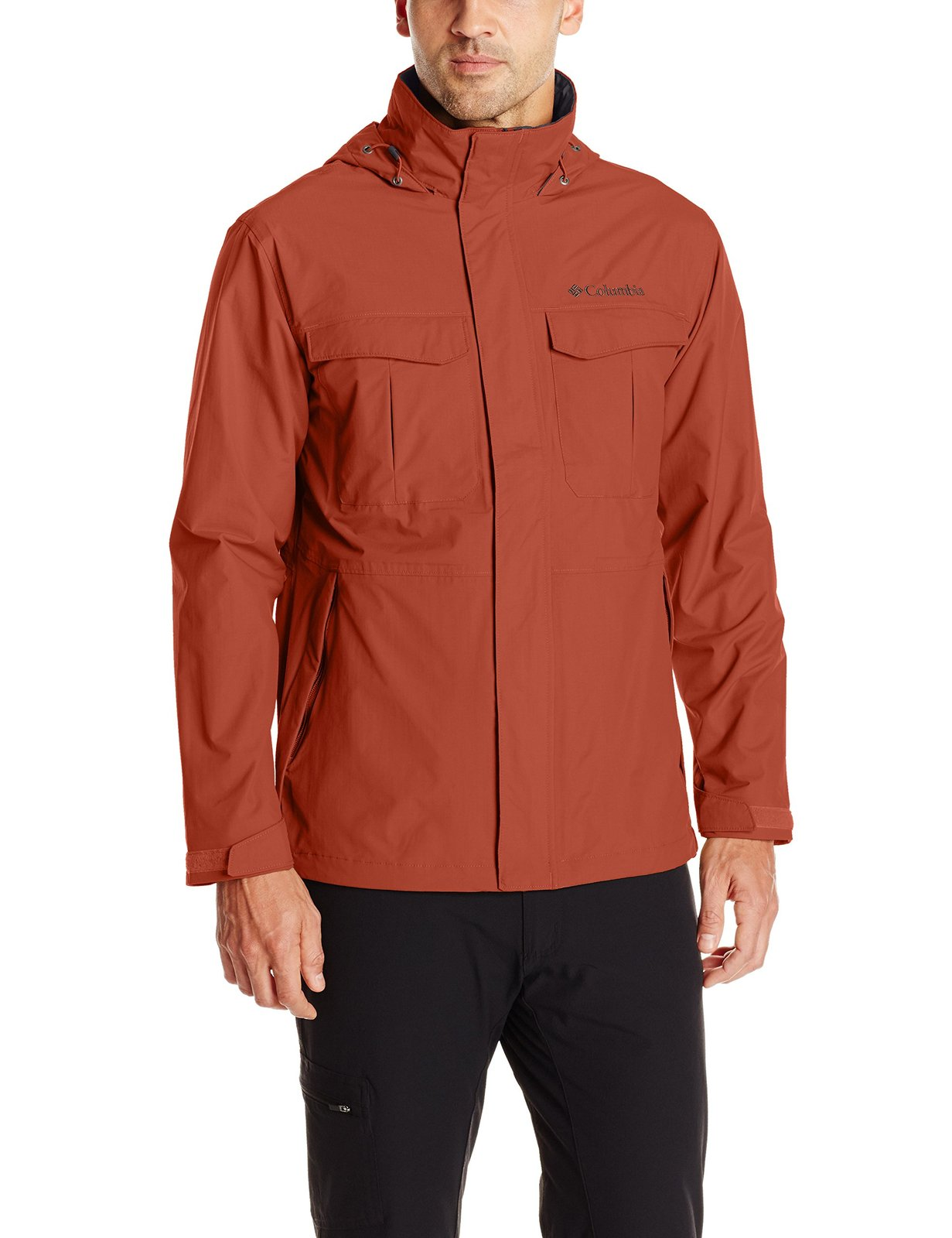 Columbia Men's Dr.Downpour Jacket, Rusty, Large