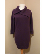 NWT Le Pavot Purple/Grapes Pure Cashmere Fichu Neckline Tunic Sweater SZ... - $262.35