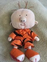 Stanley Pet Fish Fleece Orange Black Outfit Stuffed Animal Toy Bean Feet... - $6.43