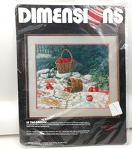 Dimensions Crewel Embroidery Kit In the Garden by Helen Rundell SEALED 1988 - $19.34