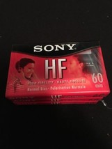 3 Individual Sony HF High Fidelity 60 min Normal Bias Blank Audio Cassette Tapes - $5.93
