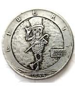 !!!RARE!!! MR PEANUT Hobo 1944 Walking Liberty Half Dollar Skull Design Coin - €10,71 EUR