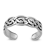 Women's Fancy Adjustable Toe Ring In 14k White Gold Plated 925 Sterling ... - $9.99