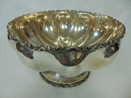 Vintage Antique .950 Sterling Silver Plateria Vigueras Mexico Punch Bowl 2464g - $3,080.00