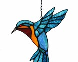 Stained Glass Ruby Throat Hummingbird Sun Catcher