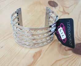 719 Silver Wave Cuff Bracelet (New) - $8.58