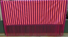 "Native American Pawnee Womens Hot Pink Fringe Stripe Shawl 61"" x 55"" Neo... - $79.99"