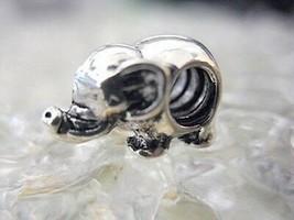 SALE Elephant Charm bead jewelry Sterling Silver .925 - $27.78