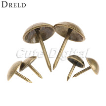 DRELD 100pc 9x9mm Antique Bronze tachas Upholstery Nail Jewelry Gift Win... - $13.95