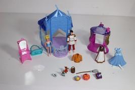 Disney Cinderella Prince Castle Polly Pocket Play Set Cloths Furniture accessor - $23.02