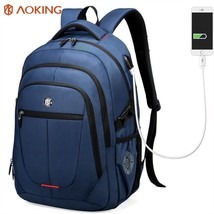 Aoking External USB Charge Computer Bag Polyester Notebook Backpack Men ... - $98.98